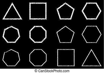 Geometric shapes set vector