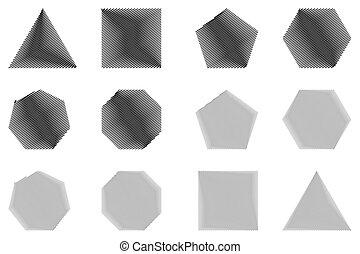 Geometric shapes set vector,