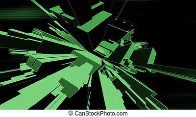 Geometric shatter VJ element - Animated geometric shatter VJ...