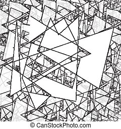 Geometric Simple Black And White Minimalistic Pattern Triangles Can Be Used As Wallpaper