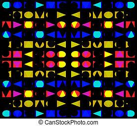 Geometric Simple Shapes Seamless Pattern