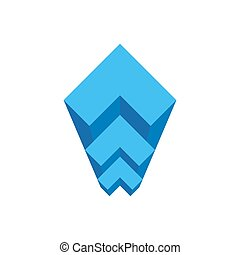 Geometric staircase architectural Bureau logo. Abstract logo for construction of real estate