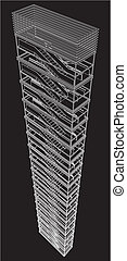 Geometric Staircase Of Building