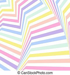 Geometric striped background, pastel rainbow spectrum colors