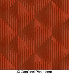 Geometric striped rhombus minimal seamless pattern. Clay...