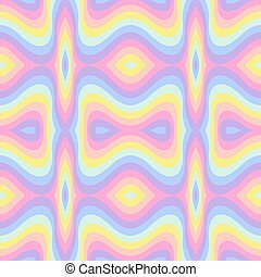 Geometric striped seamless background, pastel rainbow spectrum colors