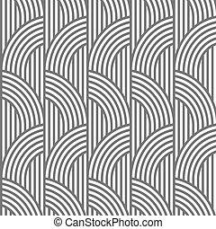Geometric striped seamless pattern