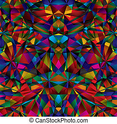 Geometric surface seamless pattern. - Colorful geometric...