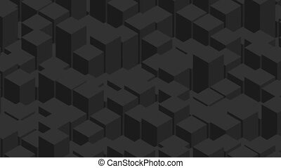 Geometric tech black abstract video animation