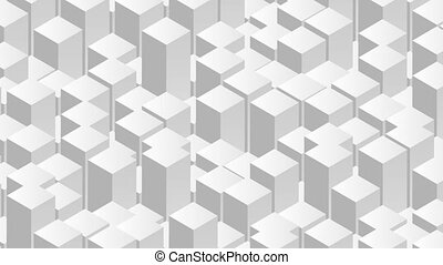 Geometric tech grey 3d abstract video animation - Geometric...