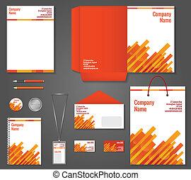 Geometric technology business stationery template