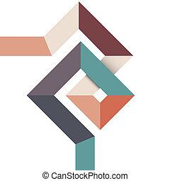 geometric tervezés, elvont, minimális