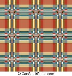 Geometric textile seamless pattern.