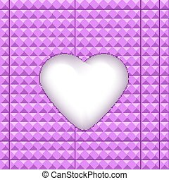 Geometric texture with heart in a center