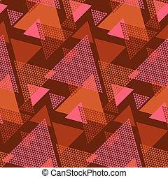 Geometric textured triangle seamless pattern - Geometric...