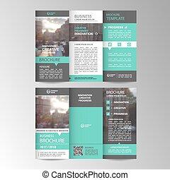 Geometric Trifold Business Brochure Template Geometric Vector - Tri fold business brochure template