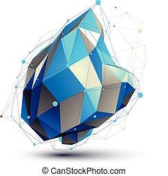 Geometric vector abstract 3D complicated lattice figure,...