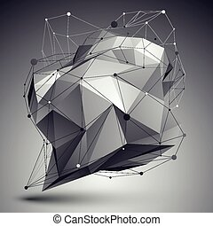 Geometric vector abstract 3D