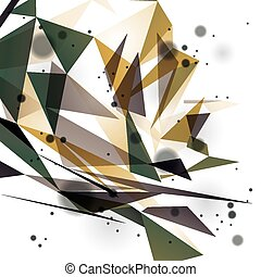 Geometric vector abstract 3D complicated op art backdrop, ...