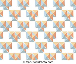 Geometric vector pattern with orange blue triangles