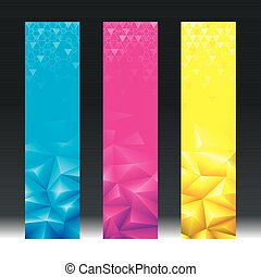 Geometric Vertical Banner