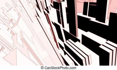Geometric VJ loop strobe color effect animated CG background
