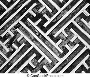 Geometric Wall Pattern - A portion of the geometric pattern...