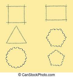 Geometric Wavy Frames