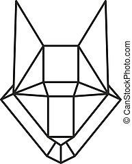 geometric wolf vector