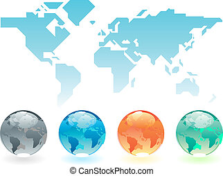 Map of the world and globes map source public domain httpwww geometric world map and globes gumiabroncs Images