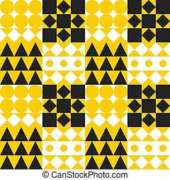 Geometric yellow tile background