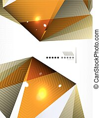 Geometrical abstract triangle background, vector modern...