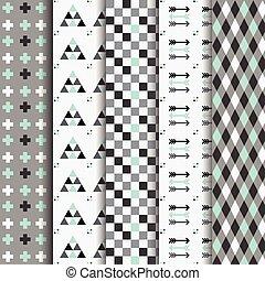 Geometrical Aztec seamless Pattern