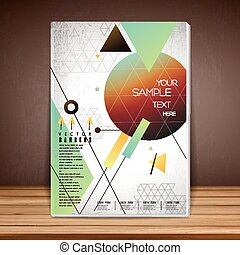 geometrical book cover brochure template design isolated on...