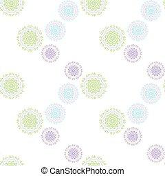 geometrical circle seamless soft colors pattern