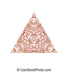 Geometrical colorful abstract flower triangle symbol template