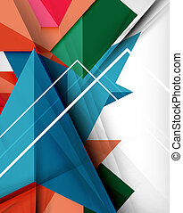 Geometrical colorful shapes abstract background -...