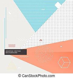 geometrical memphis style background