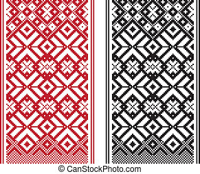 Geometrical pattern - Geometrical knitting pattern, woven ...