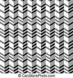 Geometrical seamless flat pattern, 3d illusion. - ...