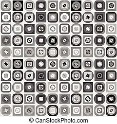 Geometrical shapes background in black and white