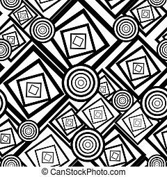 Geometricblack and white seamless background