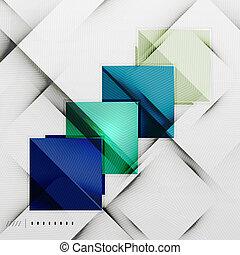 geometrický, čtverhran, a, kosočtverec, futuristický, šablona