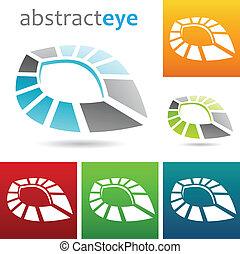 geometrický, abstraktní, oko, forma