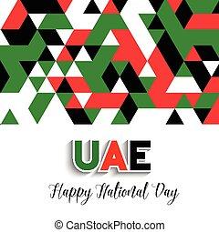 geometrický, design, grafické pozadí, jako, united arab...
