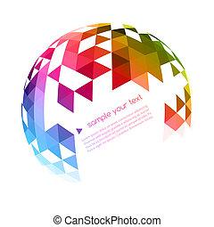 geometrický, grafické pozadí, abstraktní, barvitý