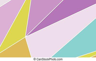 geometrický tvořit, wallpaper., ta, kombinace, o, trojúhelník, a, nepravidelný, čtverhran, pravoúhelník