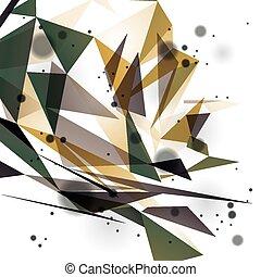 geometrický, vektor, abstraktní, 3