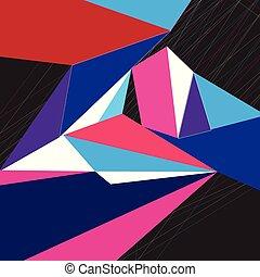 geometrico, astratto, colorito, fondo, vettore