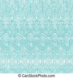 geometrico, astratto, seamless, fondo., pattern., mano, disegnato